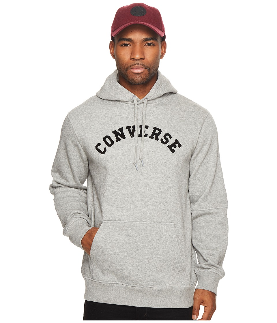 Converse Quilted Panel Pullover Hoodie (Vintage Grey Heather) Men