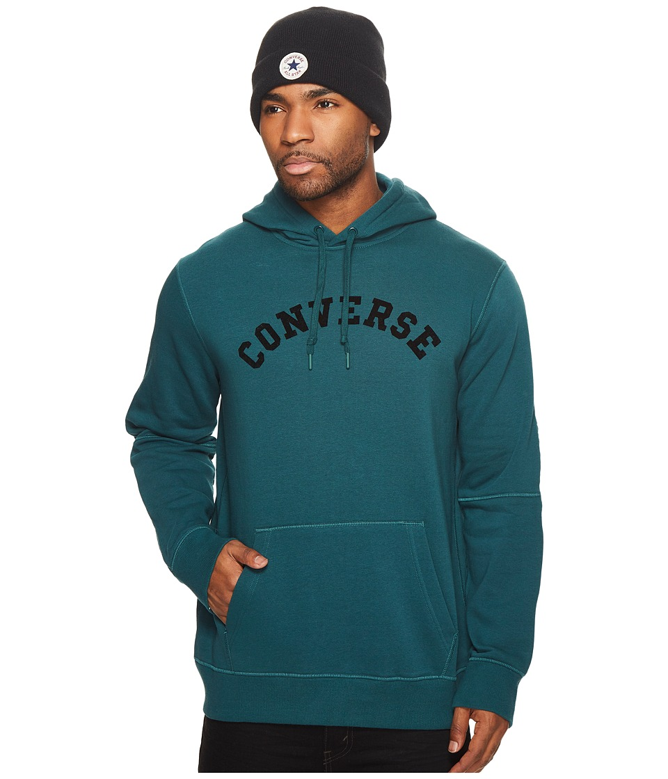 Converse Quilted Panel Pullover Hoodie (Dark Atomic Teal) Men
