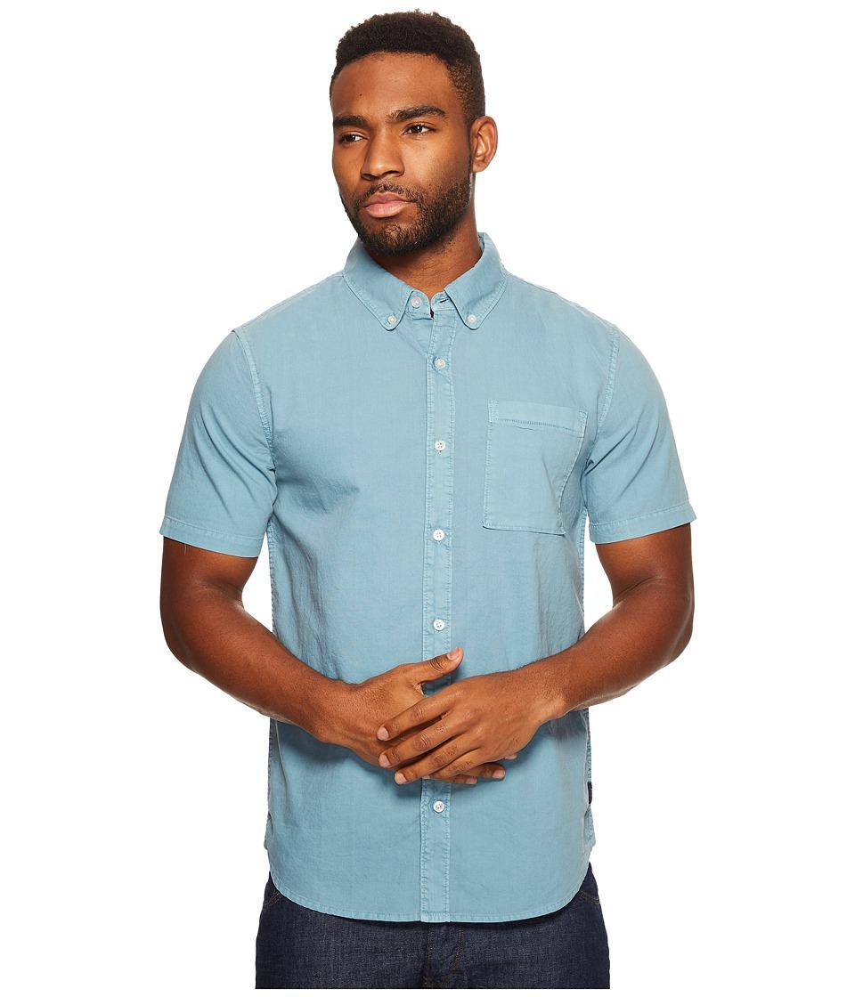 Roark - Well Worn Oxford Short Sleeve (Blue) Men's Clothing