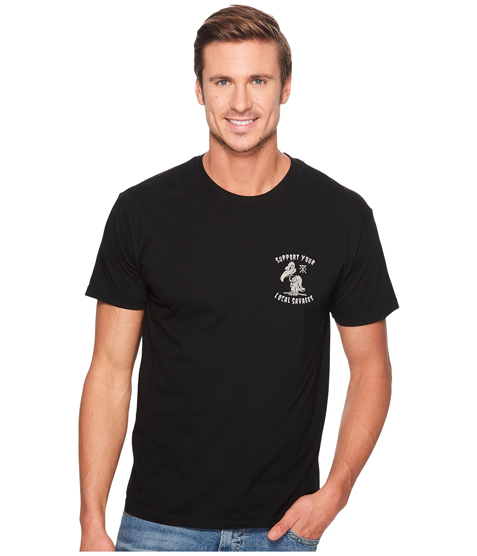 Roark - Buzztard Short Sleeve T-Shirt (Black) Men's Clothing