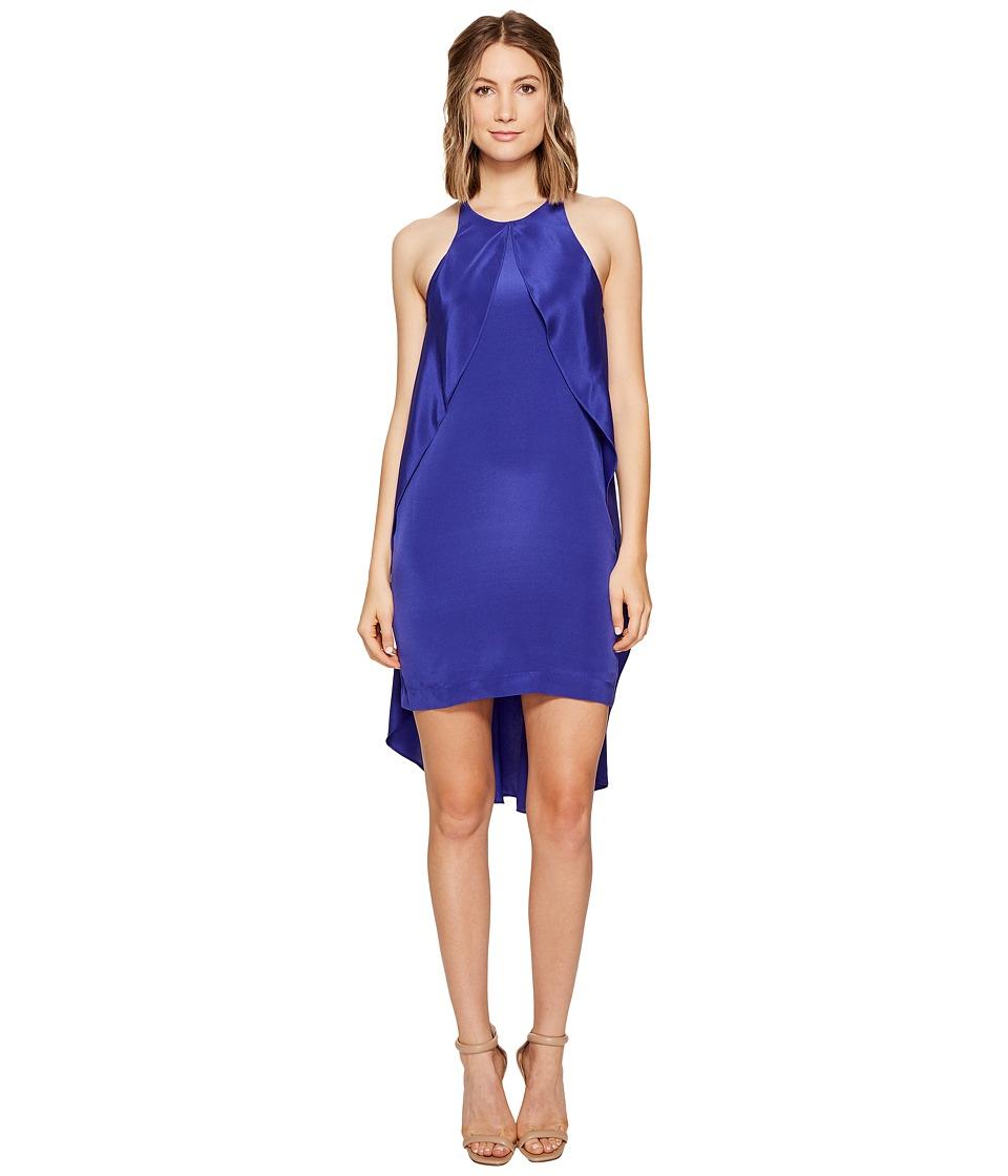 Nicole Miller - Fiona Flowing Cape Dress (Blueberry) Women's Dress