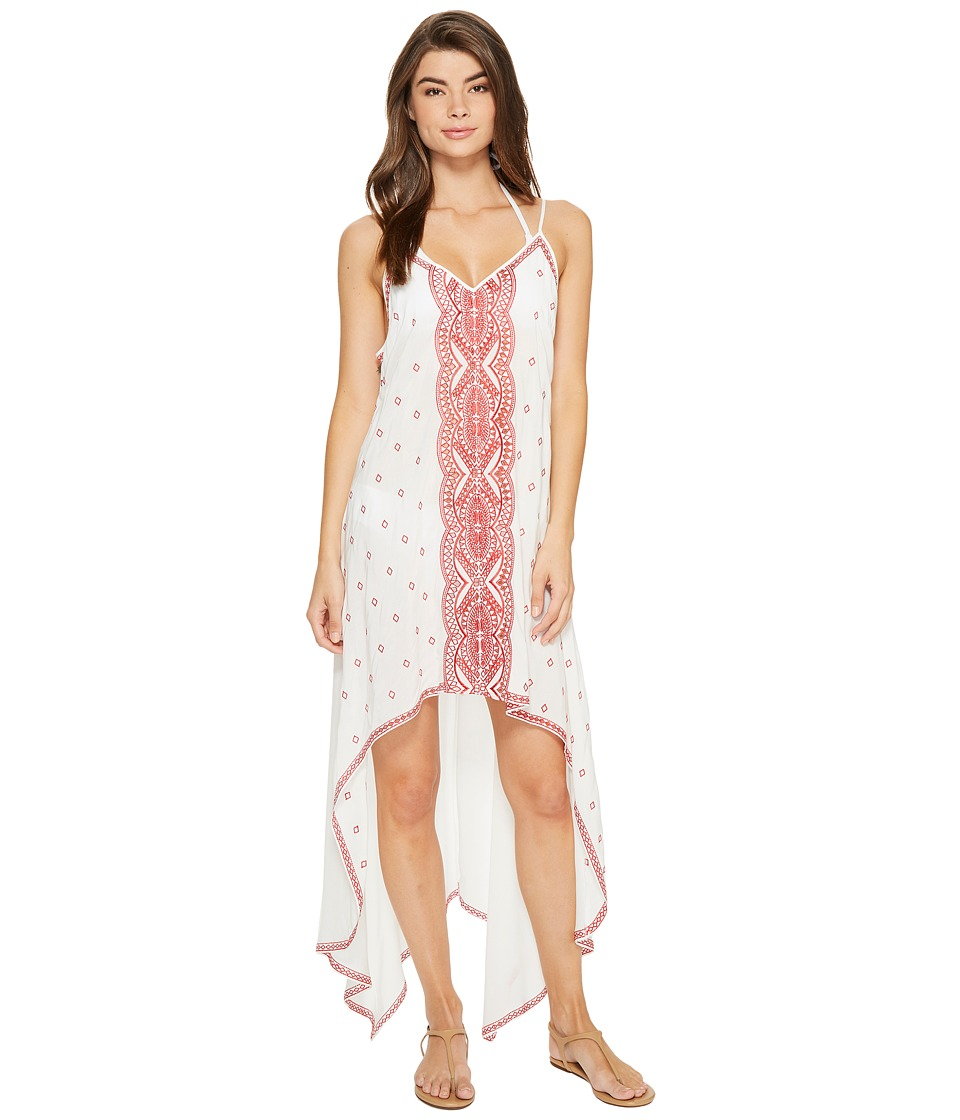 Nicole Miller - La Plage By Nicole Miller Embroidered Beach Scarf Dress/Cover-Up (White) Women's Dress