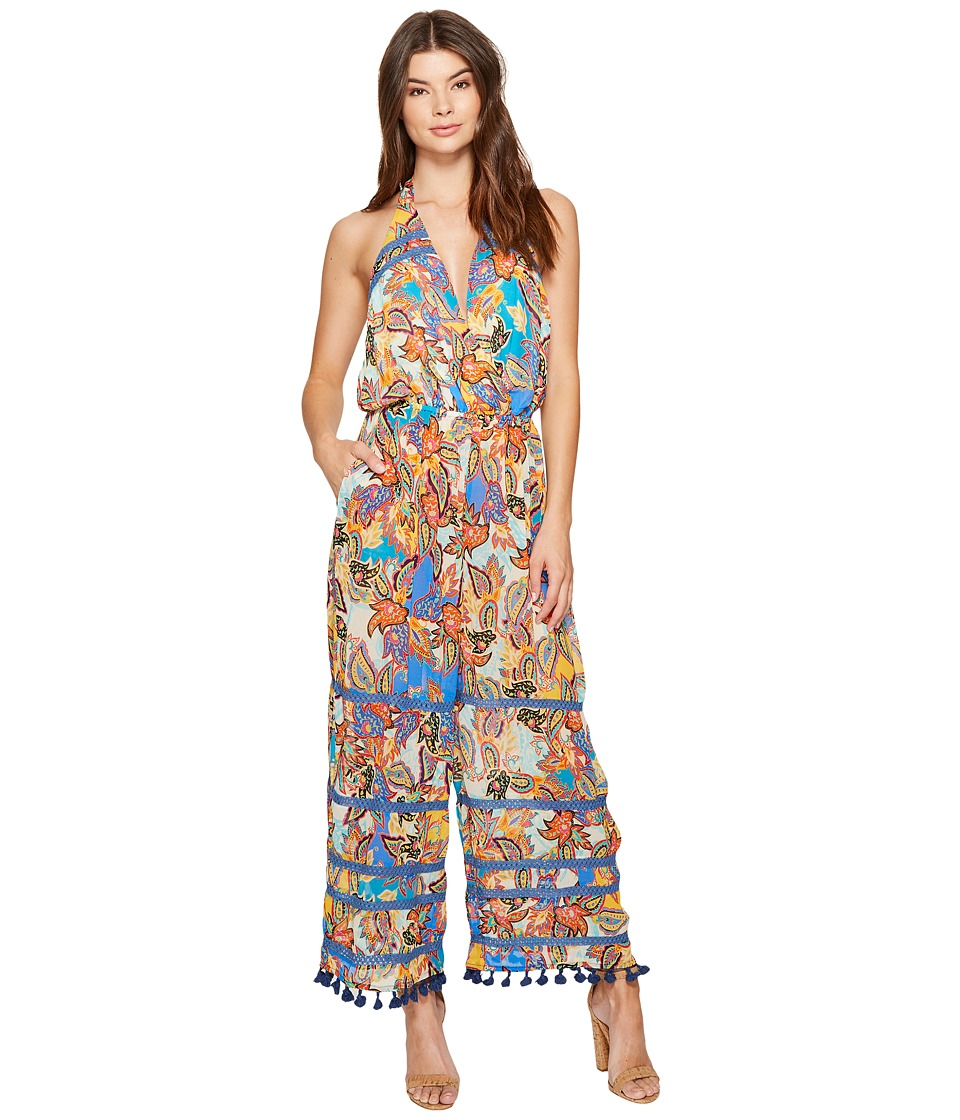 Nicole Miller - La Plage By Nicole Miller Eric Pompom Beach Playsuit (Multi) Women's Jumpsuit & Rompers One Piece