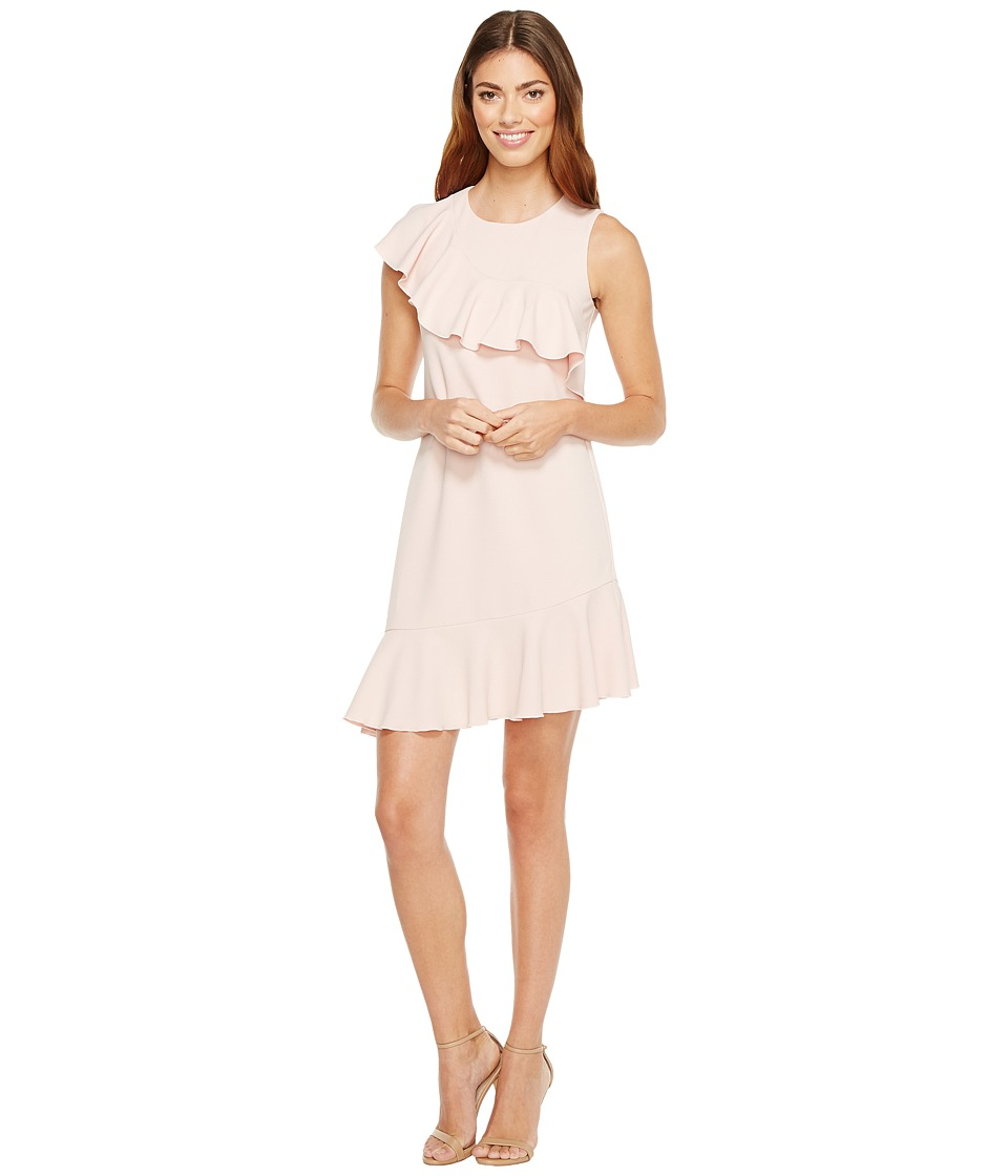 Donna Morgan - Sleeveless Asymmetrical Ruffle Dress (Blush Pink) Women's Dress