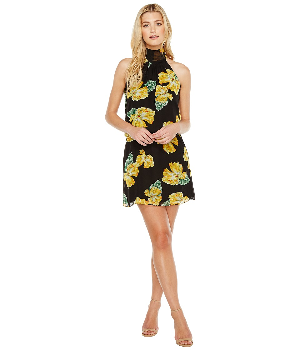 Brigitte Bailey - Leslie High Neck Dress (Black/Yellow) Women's Dress