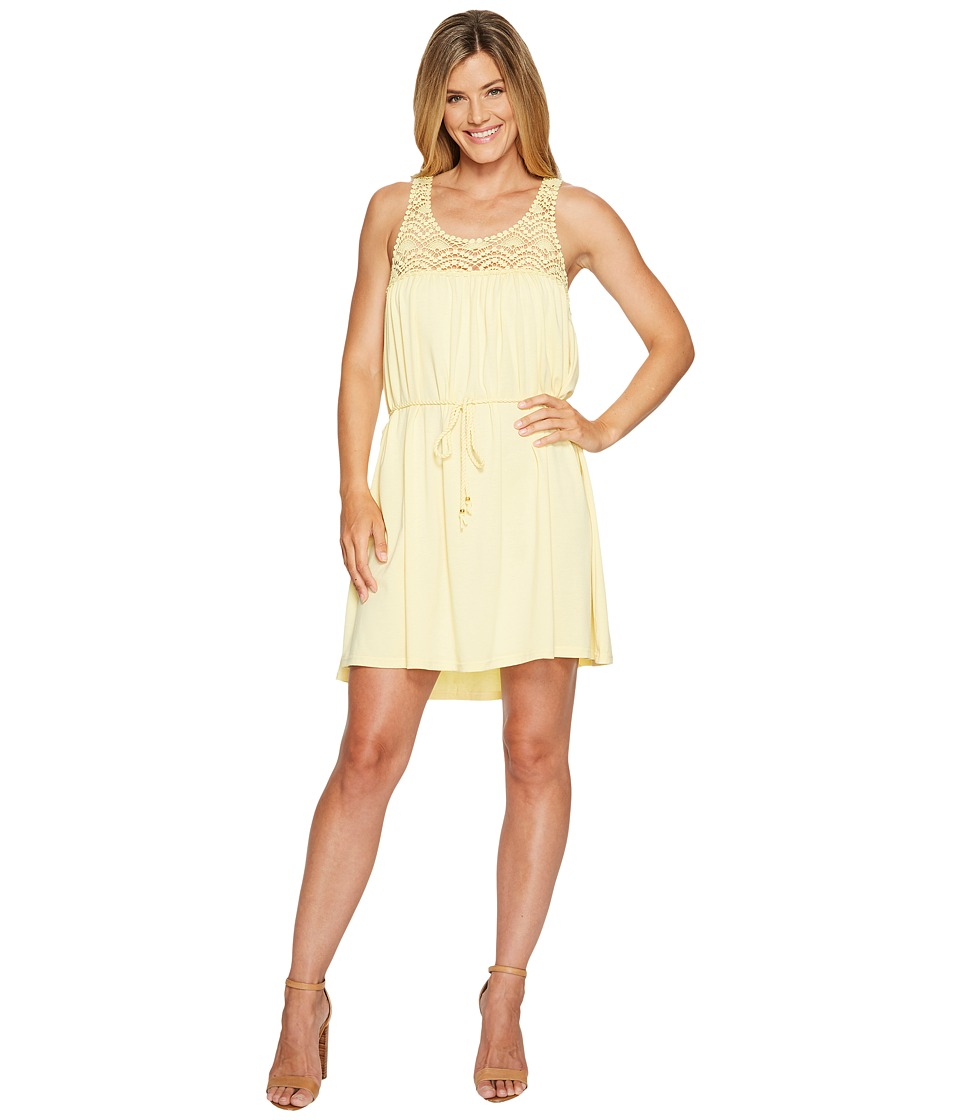 Scully - Hanna Lace Top Dress (Yellow) Women's Dress