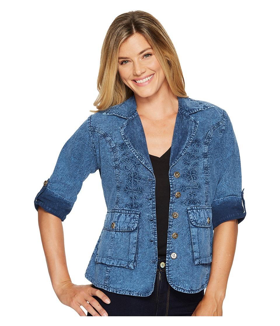 Scully - Cantina Cameron Peruvian Cotton Jacket (Dark Blue) Women's Coat