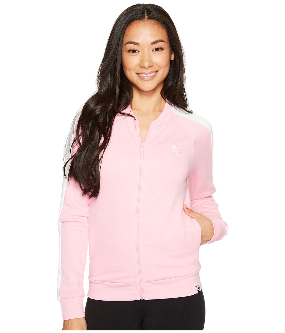 PUMA - Archive Logo T7 Track Jacket (Prism Pink/Puma White) Women's Coat