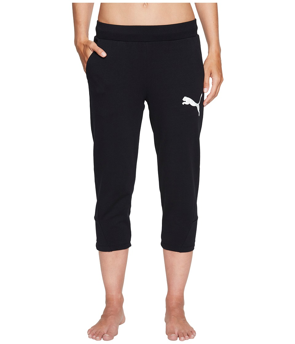 PUMA - Elevated 3/4 Sweatpants (Cotton Black) Women's Casual Pants