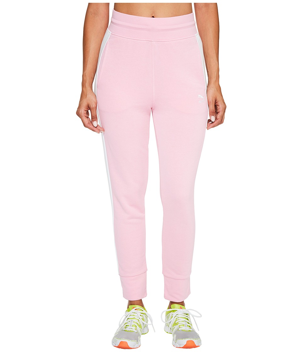 PUMA - Archive Logo T7 Sweatpants (Prism Pink/Puma White) Women's Workout