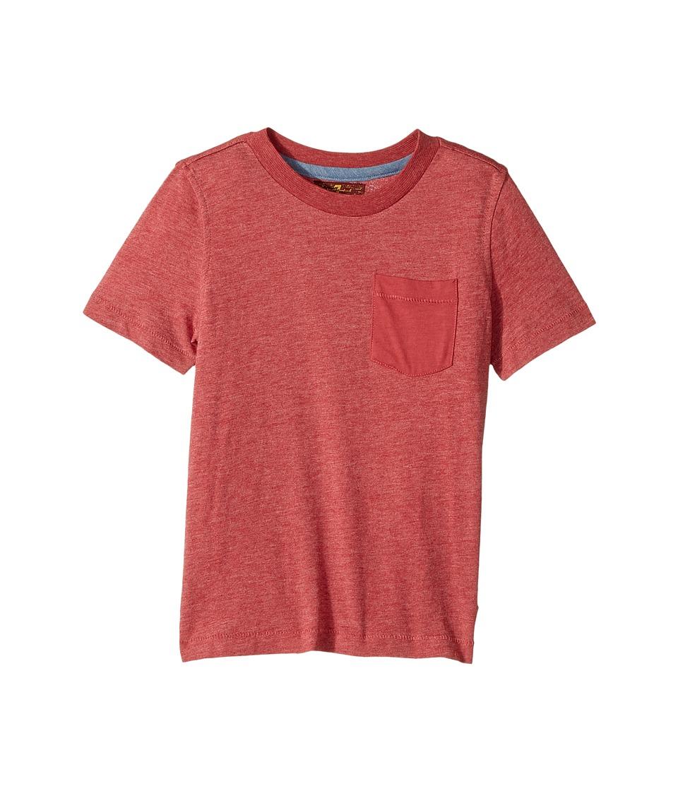 7 For All Mankind Kids - Short Sleeve T-Shirt (Little Kids/Big Kids) (Garnet) Boy's T Shirt