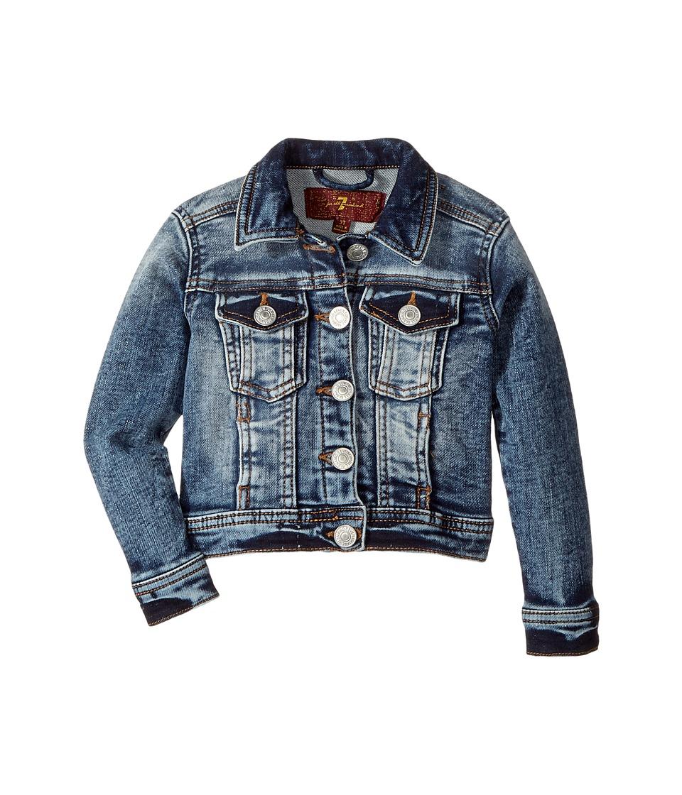 7 For All Mankind Kids - Denim Jacket (Toddler) (Bleached Indigo) Girl's Coat