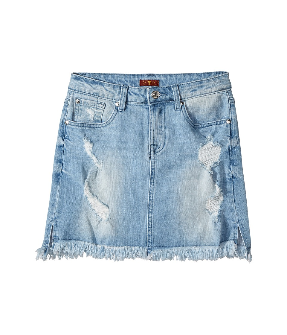 7 For All Mankind Kids - Denim Skirt in Bright Bristol (Big Kids) (Bright Bristol) Girl's Skirt