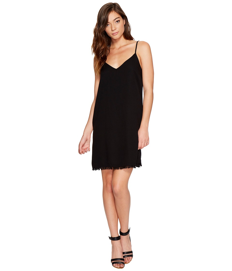 Splendid - Rayon Crepe Slip Dress (Black) Women's Dress