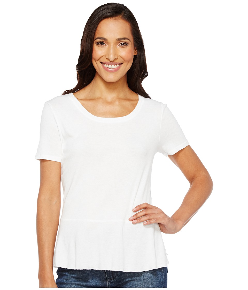 Splendid - 1X1 Peplum Tee (White) Women's T Shirt