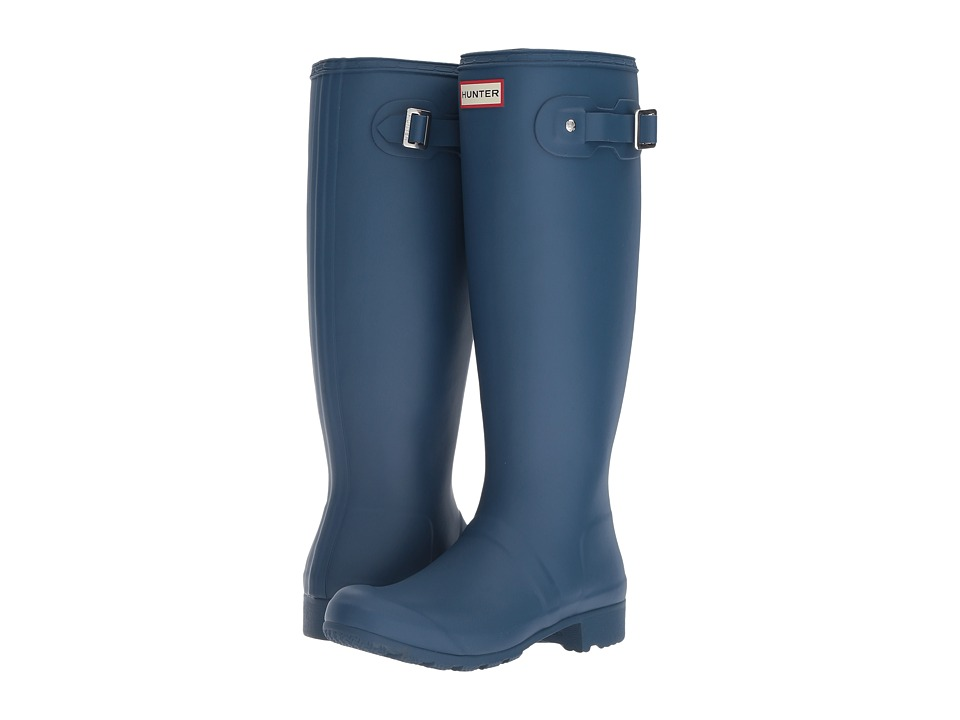 Hunter Original Tour Packable Rain Boot (Dark Earth Blue) Women