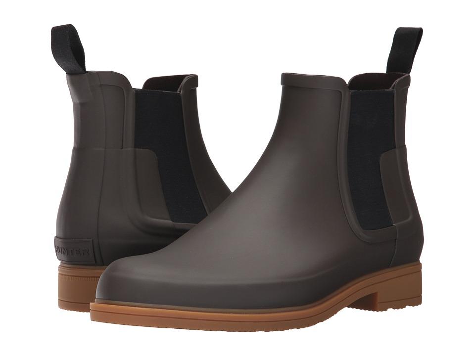 Hunter Original Refined Dark Sole Chelsea Boots (Bitter Chocolate/Gum) Men