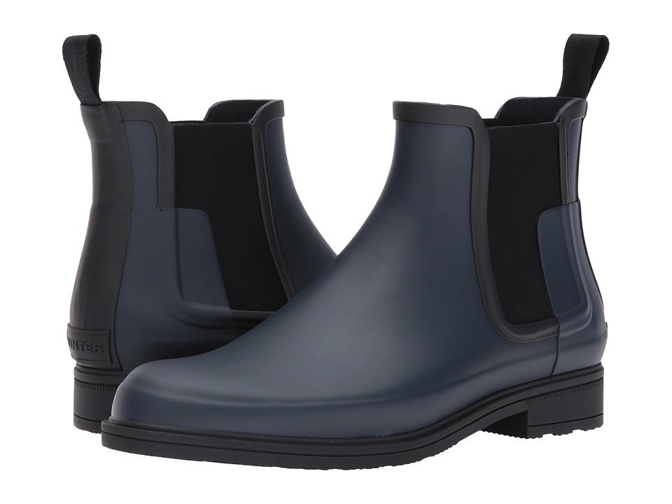 Hunter Original Refined Dark Sole Chelsea Boots (Navy/Black) Men