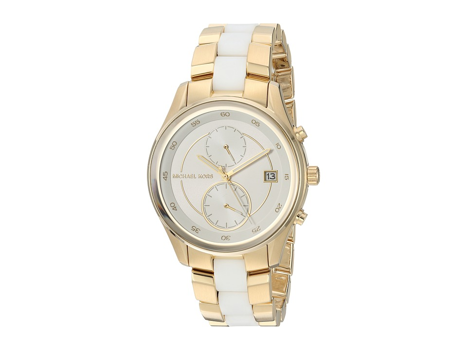 Michael Kors - MK6466 (Gold/White) Watches