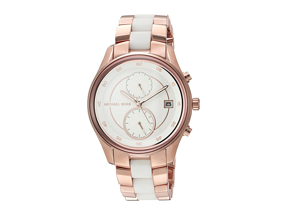 Michael Kors - MK6467 (Rose Gold/White) Watches