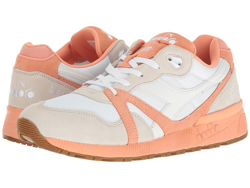 Diadora - N9000 III (White/Peach Pink) Athletic Shoes