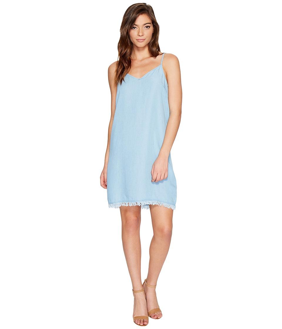 Splendid - Chambray Crepe Slip Dress (Light Wash) Women's Dress