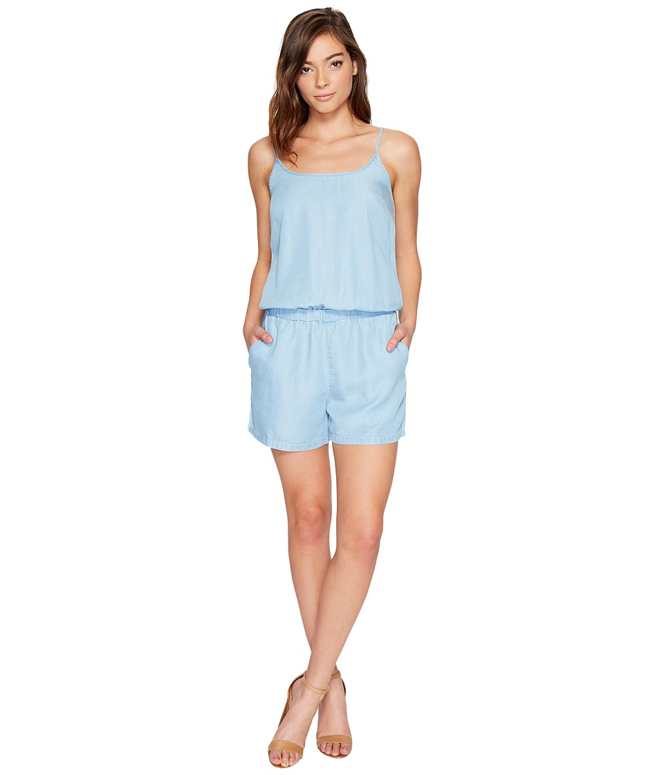 Splendid - Chambray Sleeveless Romper (Light Wash) Women's Jumpsuit & Rompers One Piece