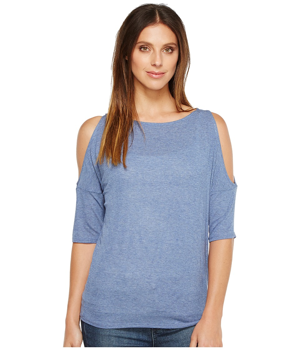 Splendid - Drapey Lux Cold Shoulder (Chambray) Women's Clothing