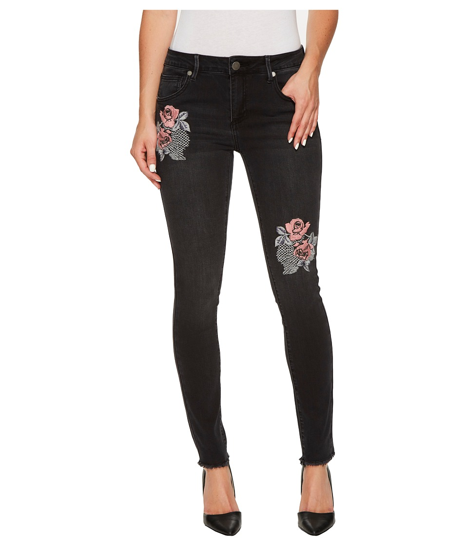 ROMEO & JULIET COUTURE - Embroidered Skinny Denim Pants (Black) Women's Jeans
