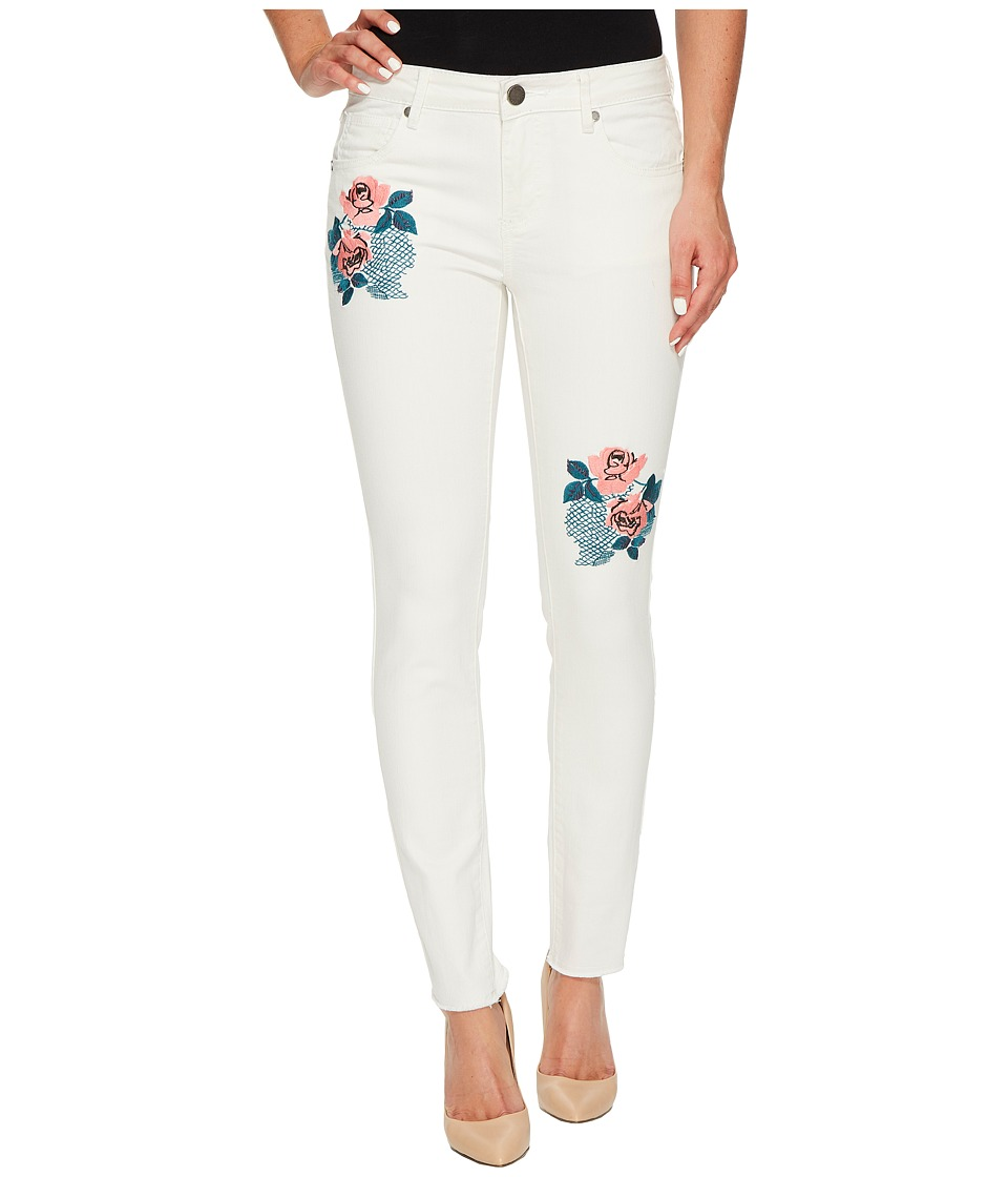 ROMEO & JULIET COUTURE - Embroidered Skinny Denim Pants (Oyster) Women's Jeans