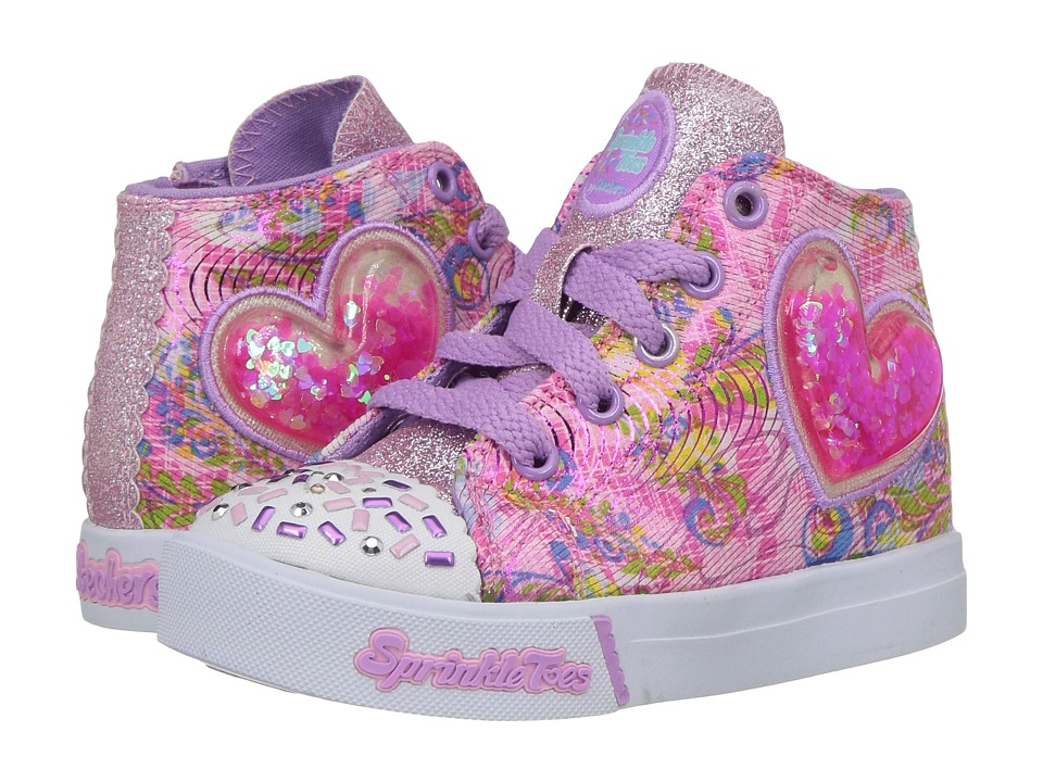 SKECHERS KIDS - Skippers-Bubble Up (Toddler/Little Kid) (Pink/Lavendar) Girl's Shoes
