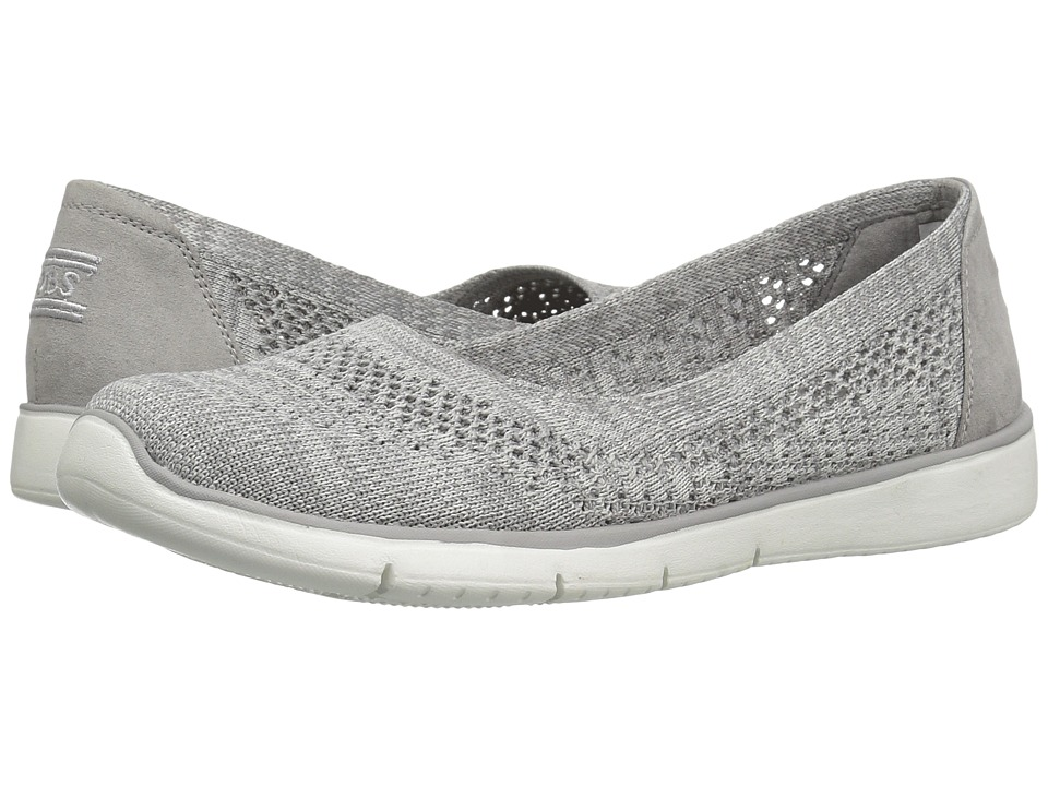 BOBS from SKECHERS Pureflex 2 Knit Knack (Gray/White) Women