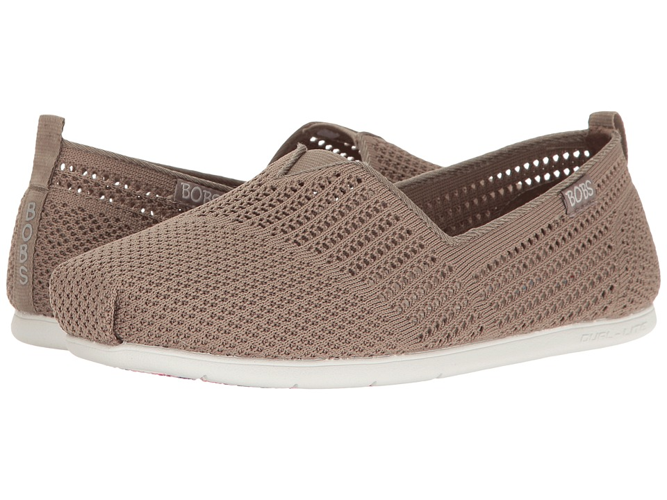 BOBS from SKECHERS Plush Lite Peek (Taupe) Women