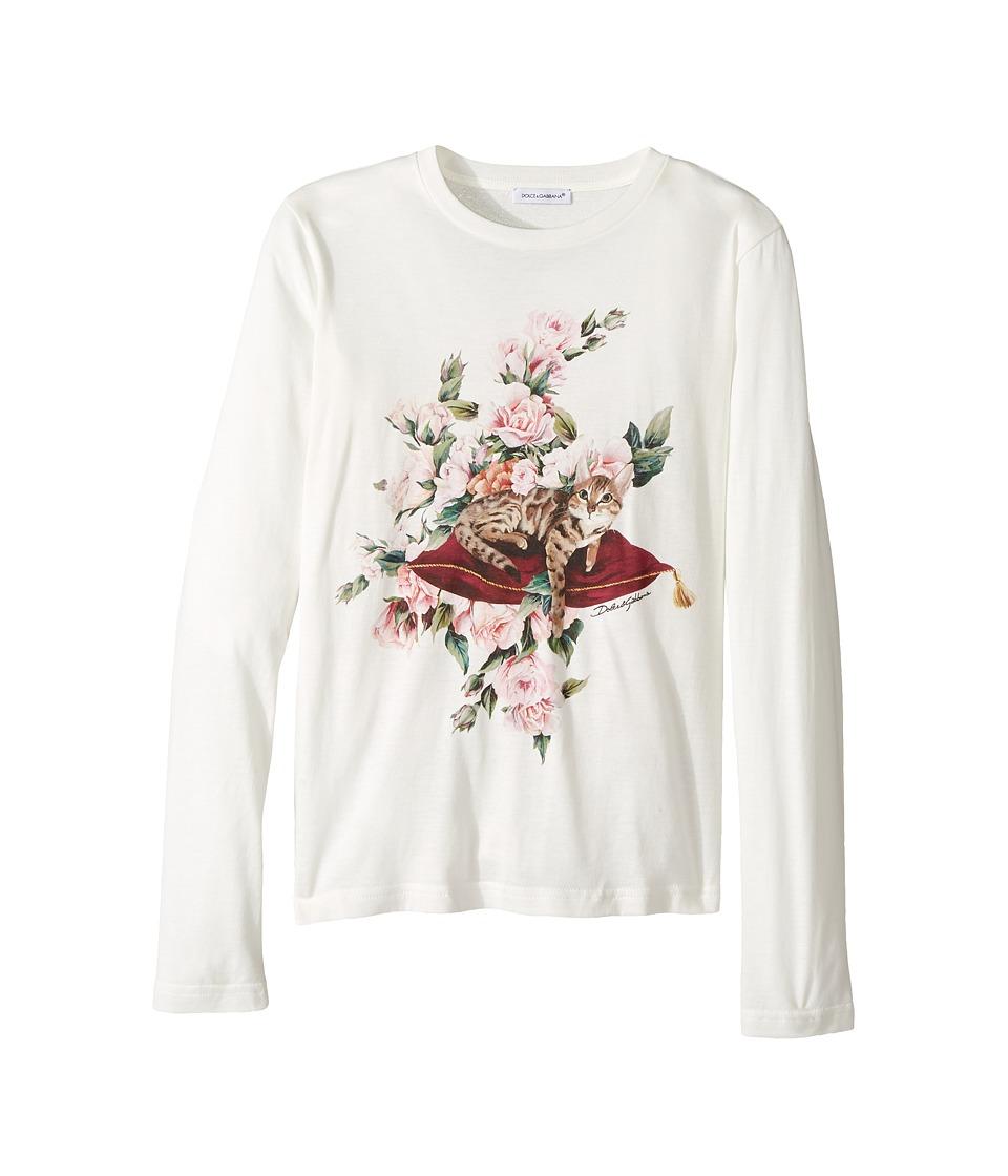 Dolce & Gabbana Kids City Zambia T-Shirt Big Kids White Girl's Dress