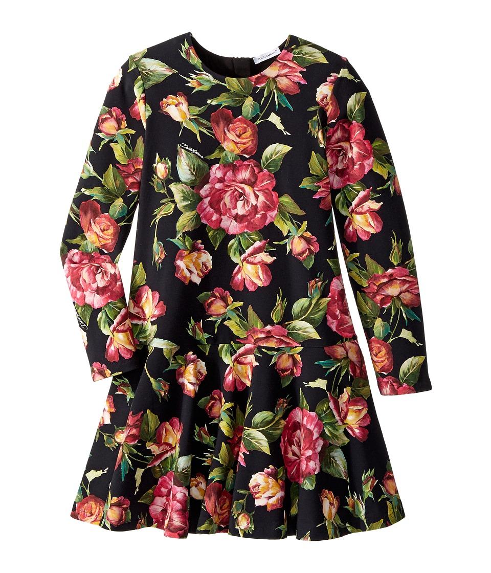 Dolce & Gabbana Kids City Rose Print Dress