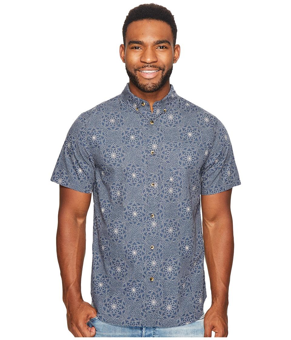Roark - Imperial Short Sleeve Woven Top (Blue) Men's Short Sleeve Knit
