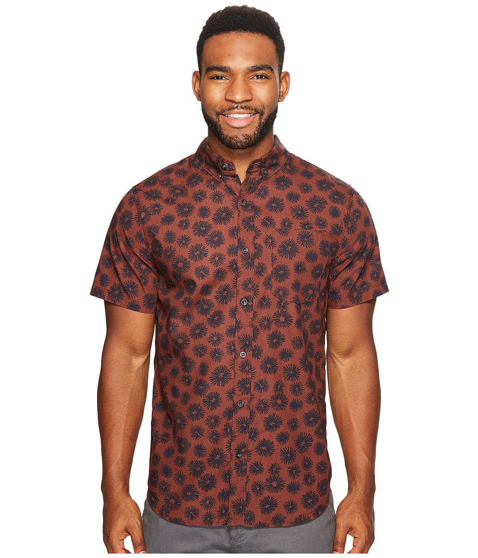 Roark - Imperial Short Sleeve Woven Top (Rust) Men's Short Sleeve Knit
