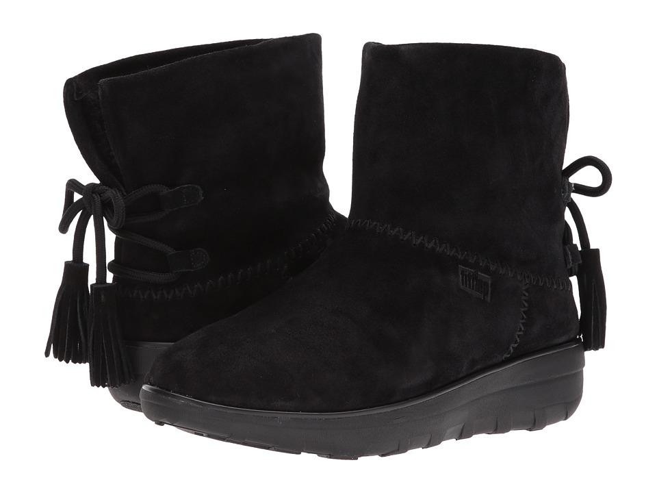 FitFlop Mukluk Shorty II Boots w/ Tassels (Black) Women