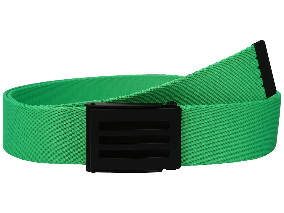 adidas Golf - Webbing Belt (Solar Lime) Men's Belts