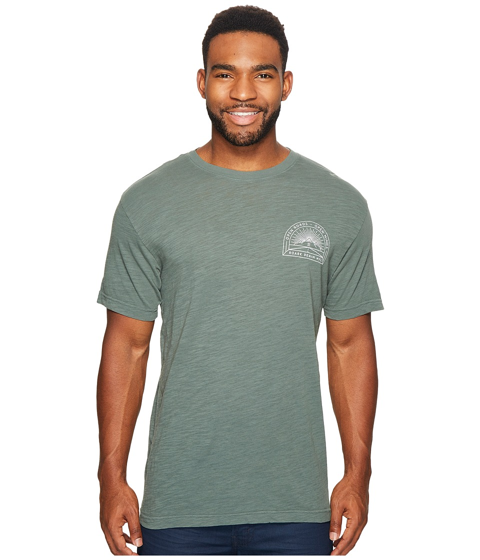 Roark - Open Roads Denim Short Sleeve T-Shirt (Green) Men's T Shirt