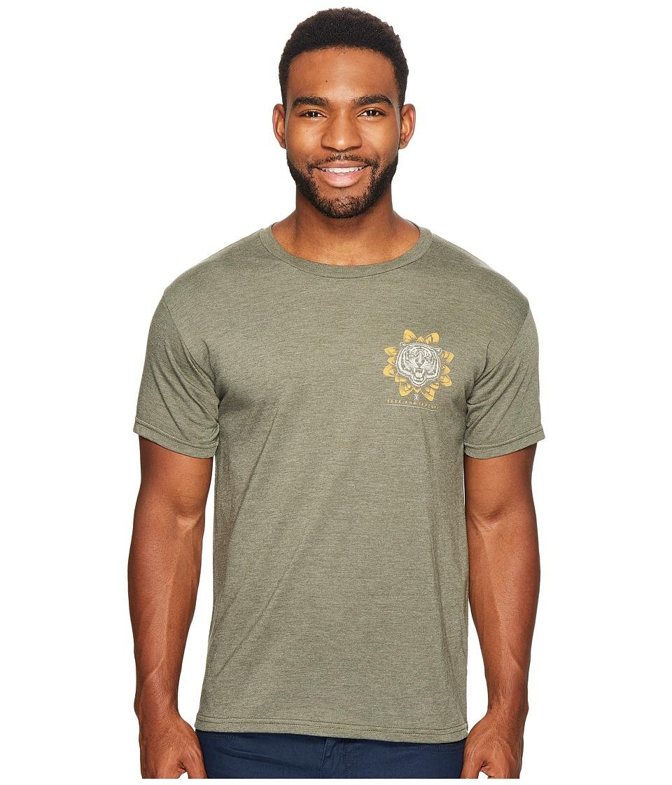 Roark - Tiger Lotus Short Sleeve T-Shirt (Army Green) Men's T Shirt