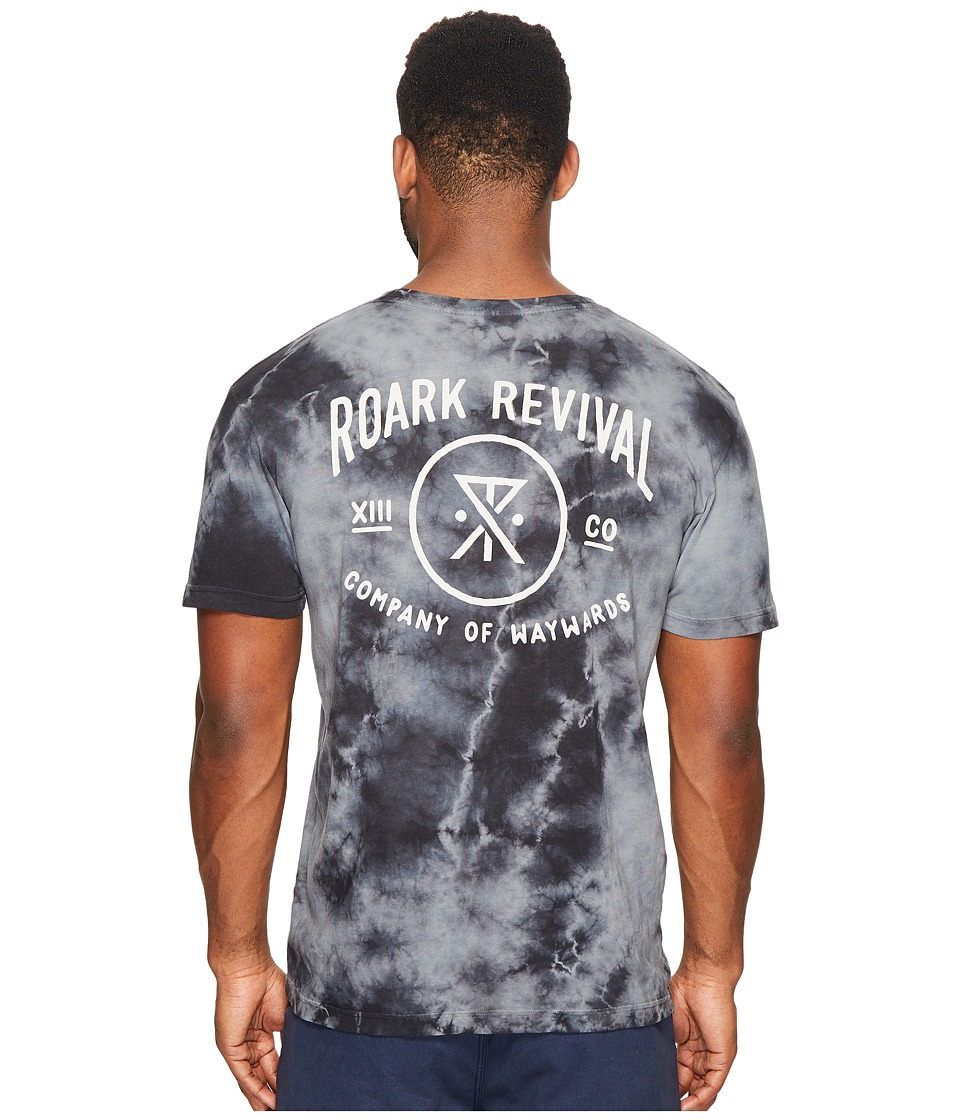 Roark - Volume 13 Tie-Dye Short Sleeve T-Shirt (Black) Men's T Shirt