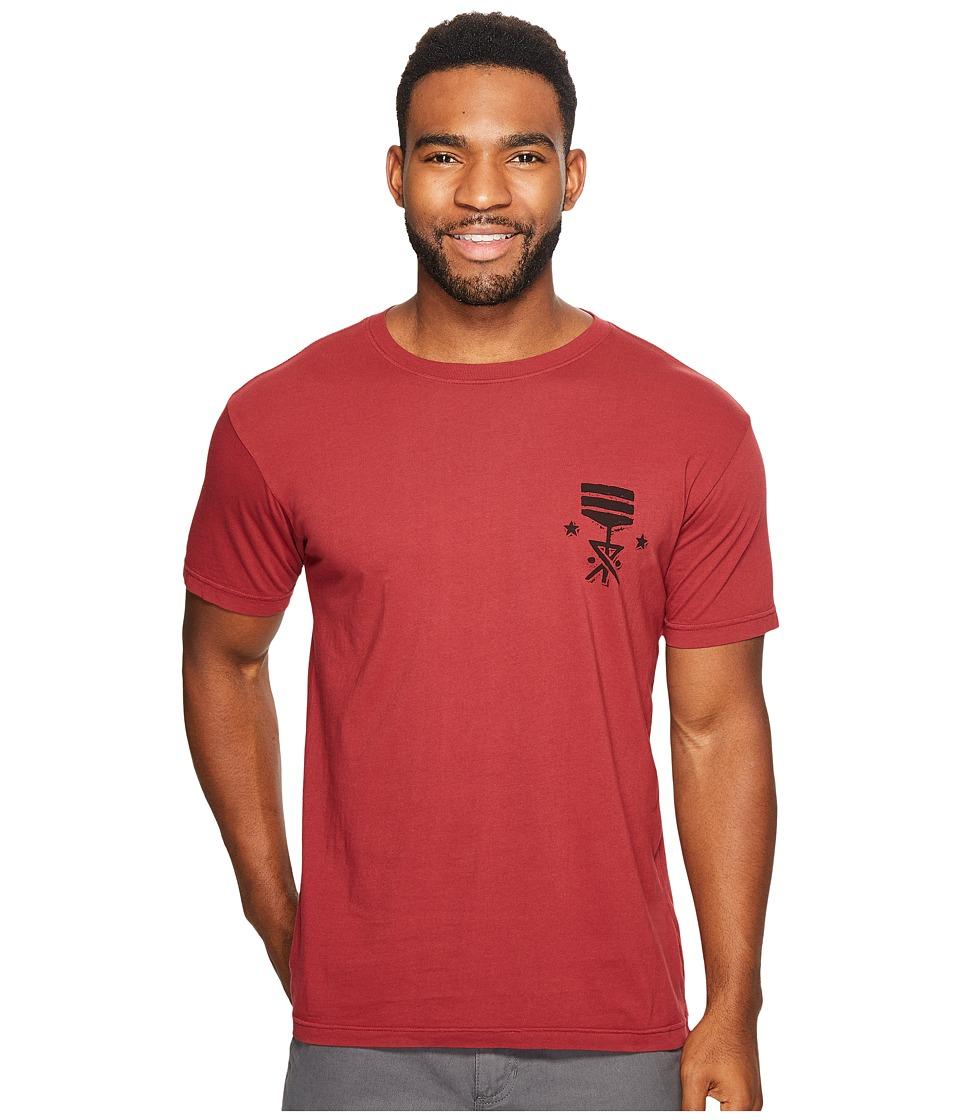 Roark - Eastern Savages Short Sleeve T-Shirt (Burgundy) Men's T Shirt