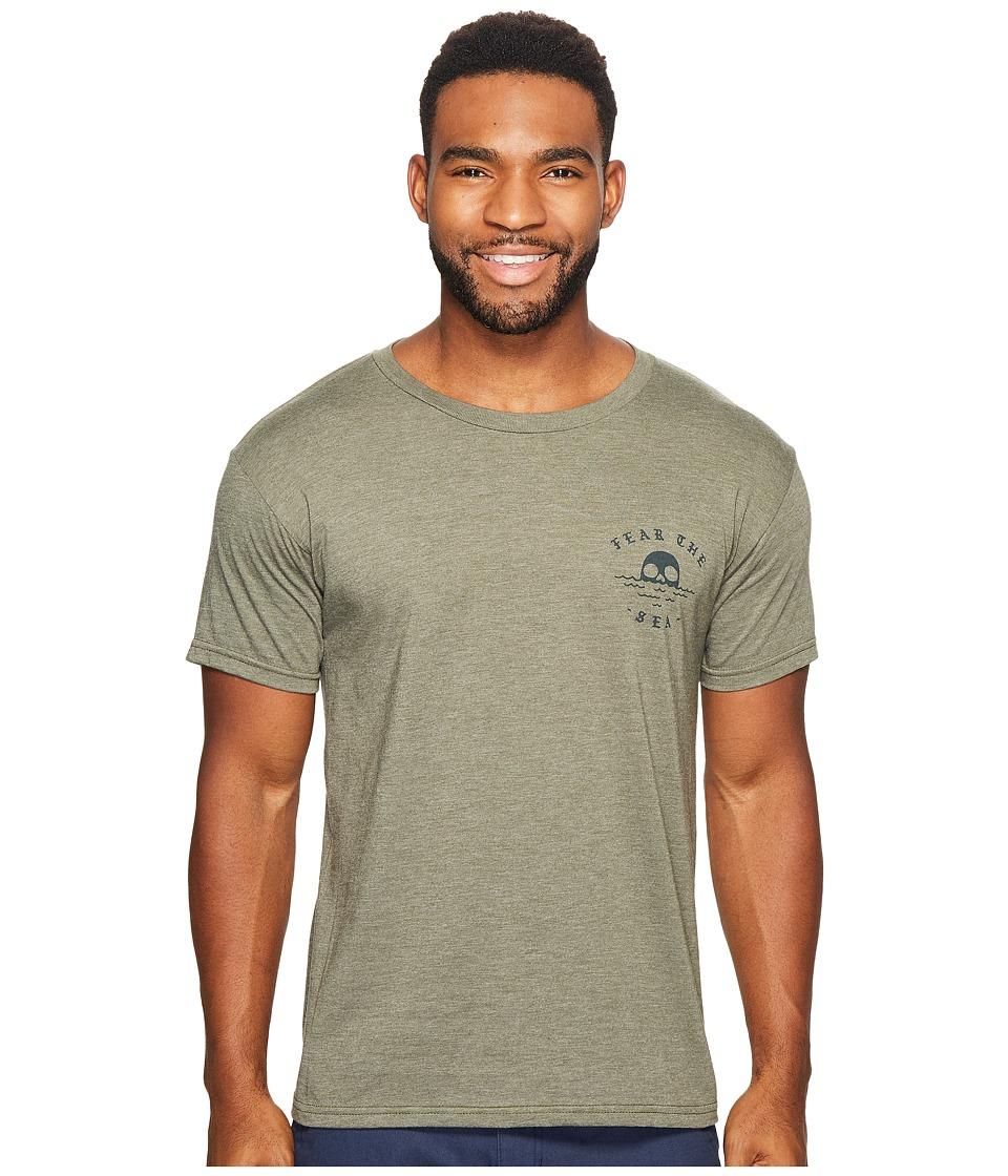 Roark - Sailors Warning Short Sleeve T-Shirt (Army Green) Men's T Shirt