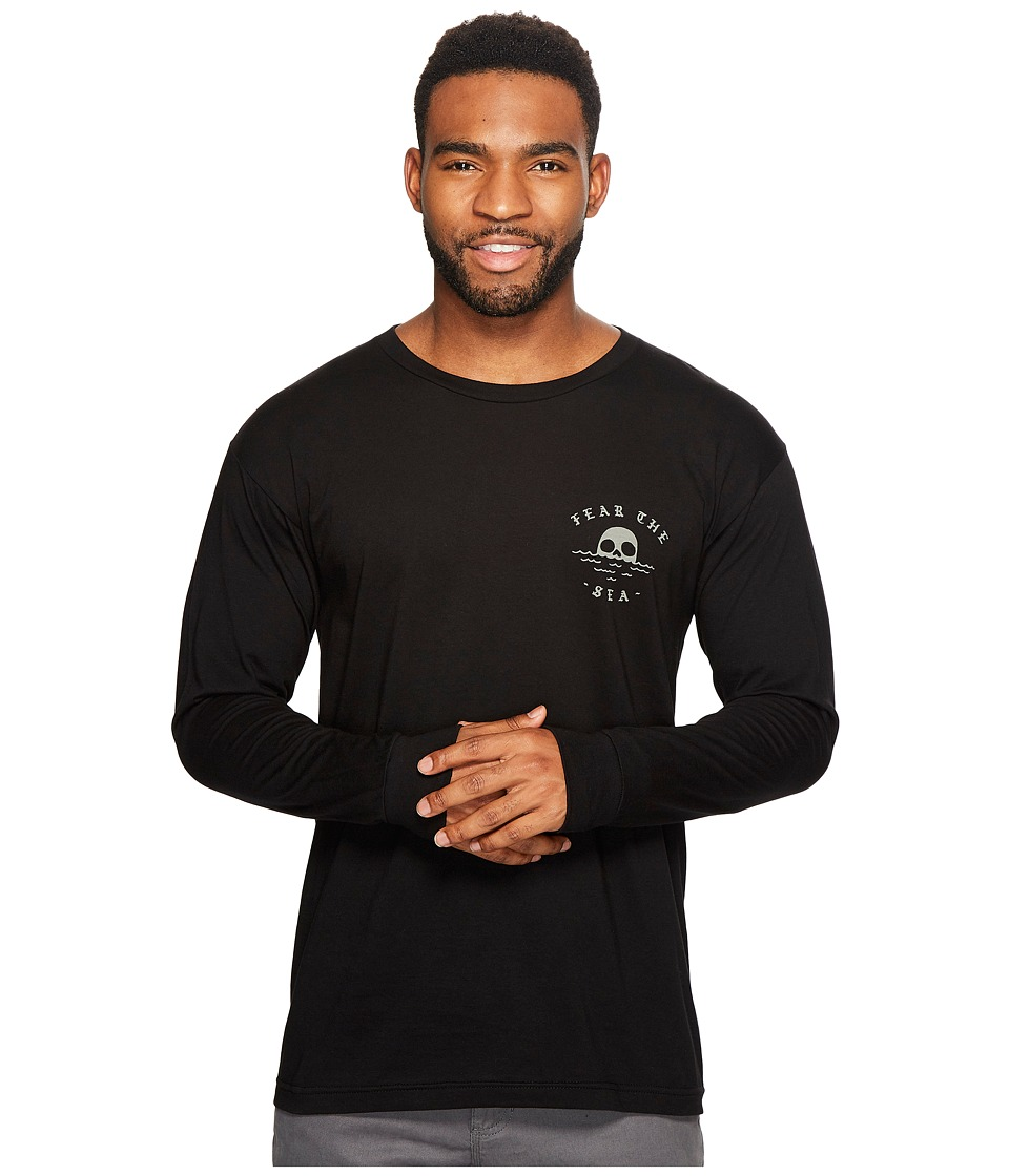 Roark - Sailors Warning Long Sleeve T-Shirt (Black) Men's Long Sleeve Pullover