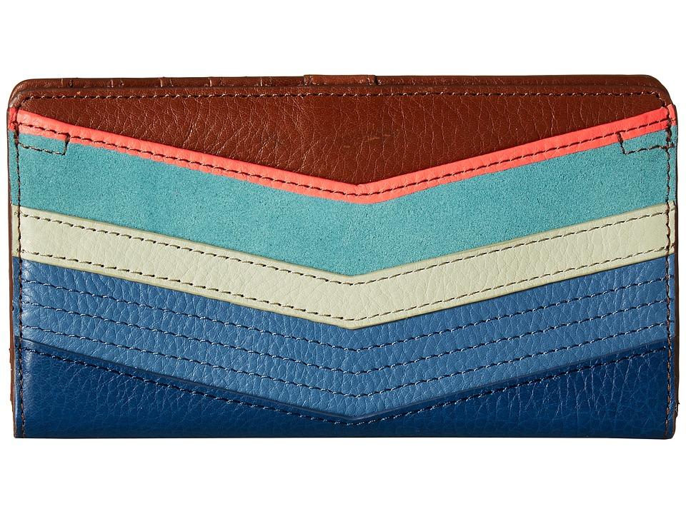 Fossil - Caroline Rfid Bifold (Bright Stripe) Wallet Handbags