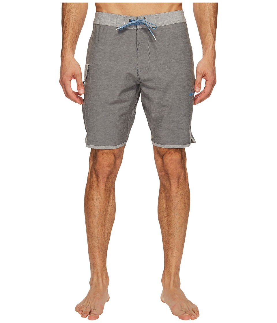 VISSLA Bordertown Four-Way Stretch Heathered Boardshorts 18.5 (Black Fade) Men