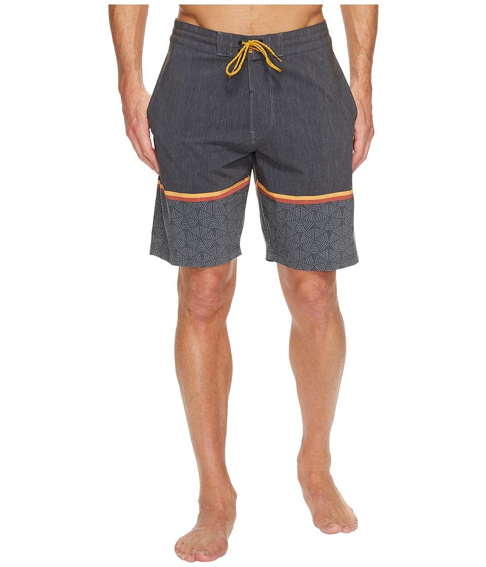 VISSLA Krakatoa Four-Way Stretch Boardshorts 20 (Black) Men