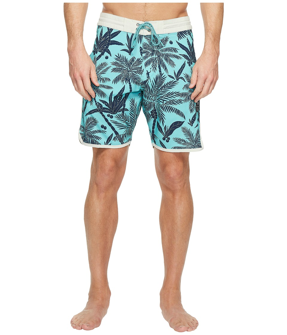 VISSLA - Fakarava Four-Way Stretch Boardshorts 18.5 (Jade) Men's Swimwear