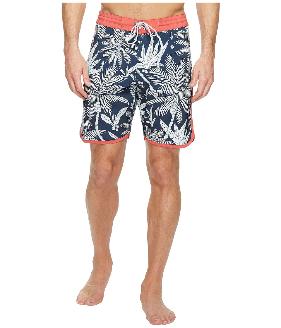 VISSLA - Fakarava Four-Way Stretch Boardshorts 18.5 (Dark Naval) Men's Swimwear